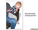 Baby burping position