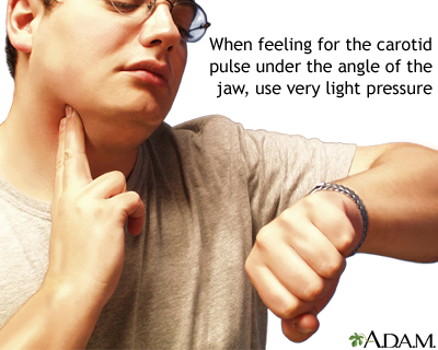 Taking your carotid pulse